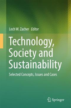 Couverture de l'ouvrage Technology, Society and Sustainability