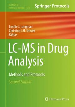 Couverture de l'ouvrage LC-MS in Drug Analysis