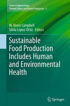 Couverture de l'ouvrage Sustainable Food Production Includes Human and Environmental Health