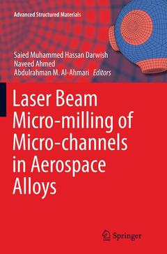 Couverture de l'ouvrage Laser Beam Micro-milling of Micro-channels in Aerospace Alloys