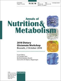 Couverture de l'ouvrage Dietary Glutamate Workshop 2018