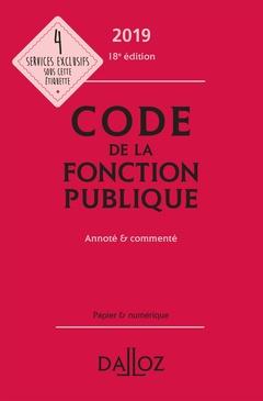 Couverture de l'ouvrage Code de la fonction publique 2019, annoté et commenté