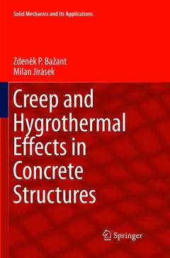 Couverture de l'ouvrage Creep and Hygrothermal Effects in Concrete Structures