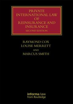 Couverture de l'ouvrage Private International Law of Reinsurance and Insurance