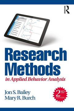 Cover of the book Research Methods in Applied Behavior Analysis