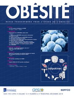 Couverture de l'ouvrage Obésité. Vol. 13 N° 4 - Décembre 2018