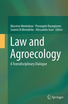 Couverture de l'ouvrage Law and Agroecology