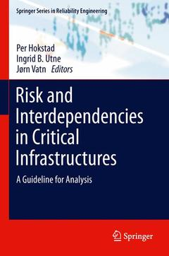 Couverture de l'ouvrage Risk and interdependencies in critical infrastructures