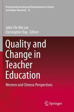 Couverture de l'ouvrage Quality and Change in Teacher Education