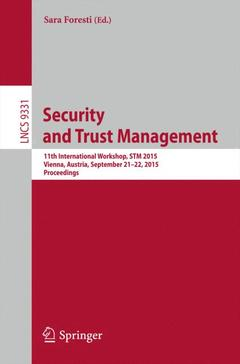 Cover of the book Security and Trust Management