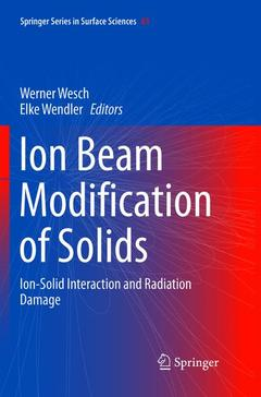 Couverture de l'ouvrage Ion Beam Modification of Solids