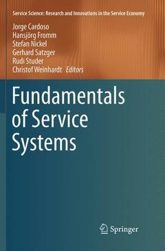 Couverture de l'ouvrage Fundamentals of Service Systems