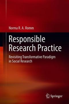 Couverture de l'ouvrage Responsible Research Practice