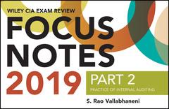 Couverture de l'ouvrage Wiley CIA Exam Review 2019 Focus Notes, Part 2