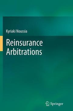 Couverture de l'ouvrage Reinsurance Arbitrations