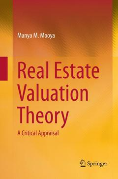 Cover of the book Real Estate Valuation Theory