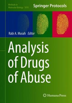 Couverture de l'ouvrage Analysis of Drugs of Abuse