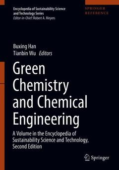 Couverture de l'ouvrage Green Chemistry and Chemical Engineering