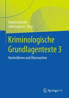 Couverture de l'ouvrage Kriminologische Grundlagentexte 3