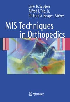 Couverture de l'ouvrage MIS techniques in orthopedics