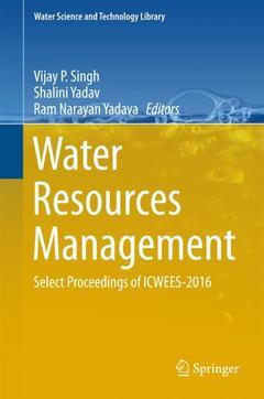 Couverture de l'ouvrage Water Resources Management