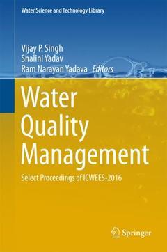 Couverture de l'ouvrage Water Quality Management
