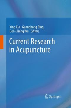 Couverture de l'ouvrage Current research in acupuncture
