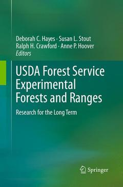 Couverture de l'ouvrage USDA forest service experimental forests and ranges