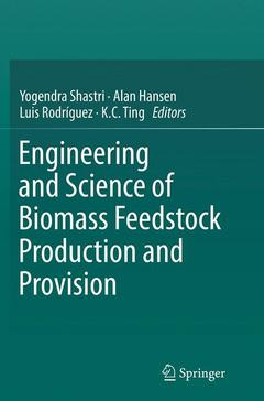 Cover of the book Engineering and Science of Biomass Feedstock Production and Provision