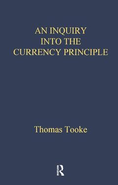 Couverture de l'ouvrage Inquiry Into Currency Prin Lse