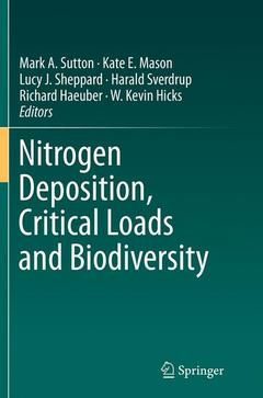 Cover of the book Nitrogen Deposition, Critical Loads and Biodiversity
