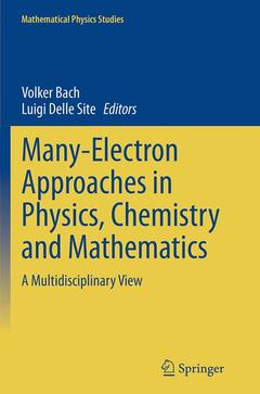 Couverture de l'ouvrage Many-Electron Approaches in Physics, Chemistry and Mathematics