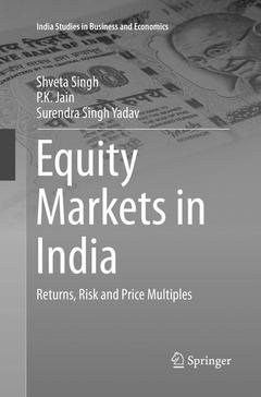 Couverture de l'ouvrage Equity Markets in India