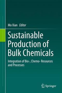 Couverture de l'ouvrage Sustainable Production of Bulk Chemicals