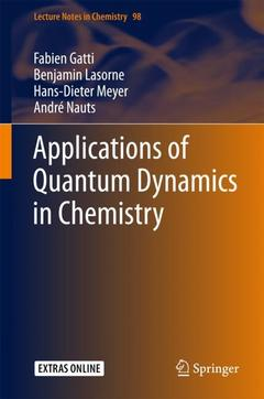 Couverture de l'ouvrage Applications of Quantum Dynamics in Chemistry