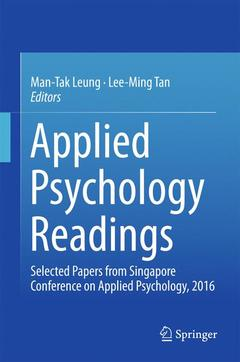 Couverture de l'ouvrage Applied Psychology Readings