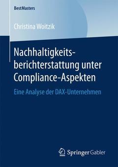 Couverture de l'ouvrage Nachhaltigkeitsberichterstattung unter Compliance-Aspekten