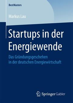 Couverture de l'ouvrage Startups in der Energiewende