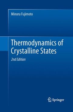 Couverture de l'ouvrage Thermodynamics of Crystalline States