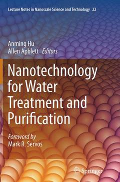 Couverture de l'ouvrage Nanotechnology for Water Treatment and Purification