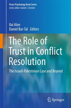 Couverture de l'ouvrage The Role of Trust in Conflict Resolution