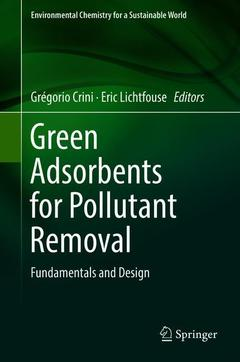 Cover of the book Green Adsorbents for Pollutant Removal