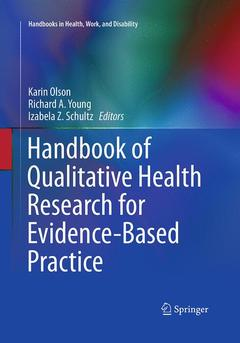 Couverture de l'ouvrage Handbook of Qualitative Health Research for Evidence-Based Practice