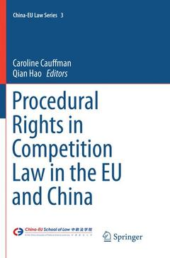Cover of the book Procedural Rights in Competition Law in the EU and China