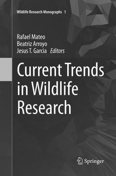 Couverture de l'ouvrage Current Trends in Wildlife Research
