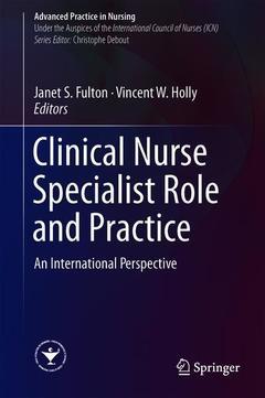 Couverture de l'ouvrage Clinical Nurse Specialist Role and Practice