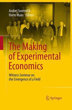 Couverture de l'ouvrage The Making of Experimental Economics