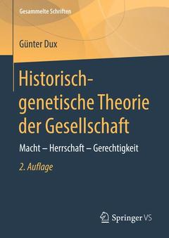 Couverture de l'ouvrage Historisch-genetische Theorie der Gesellschaft