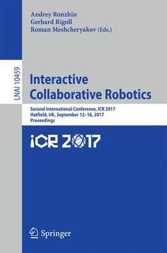 Couverture de l'ouvrage Interactive Collaborative Robotics