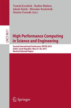 Couverture de l'ouvrage High Performance Computing in Science and Engineering
